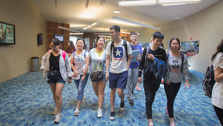 International students arriving in the Springfield-Branson International Airport